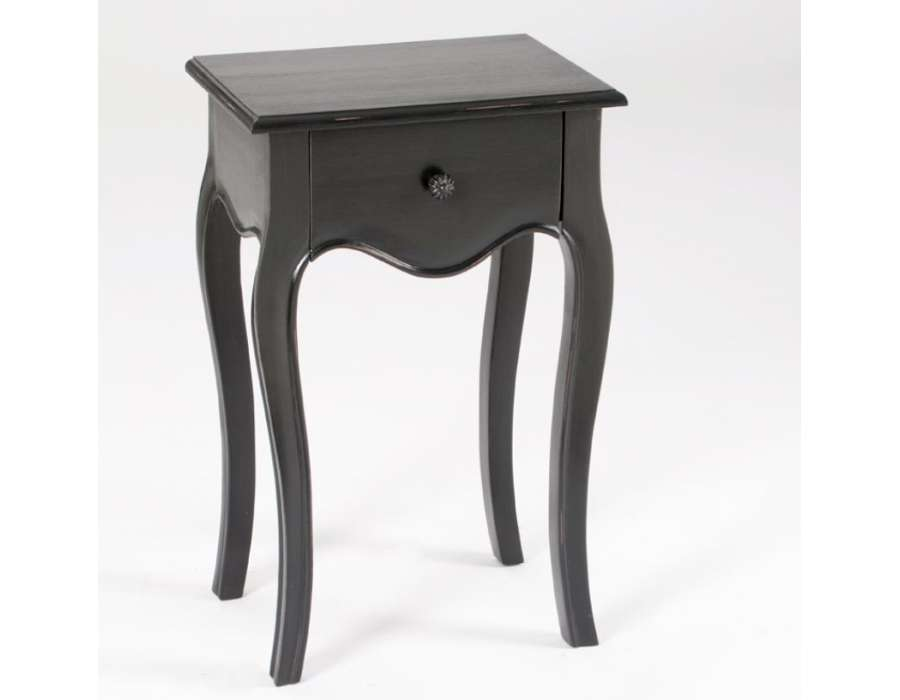 Chevet enfant 1 - Table de nuit noire ...
