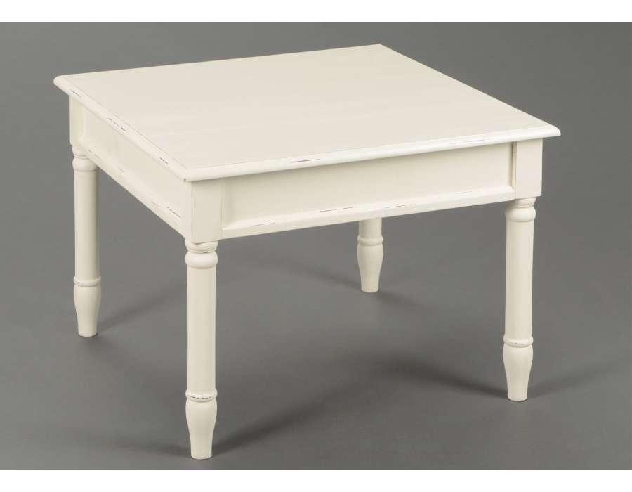 Table basse carree hauteur 45 cm - Table blanche carree ...
