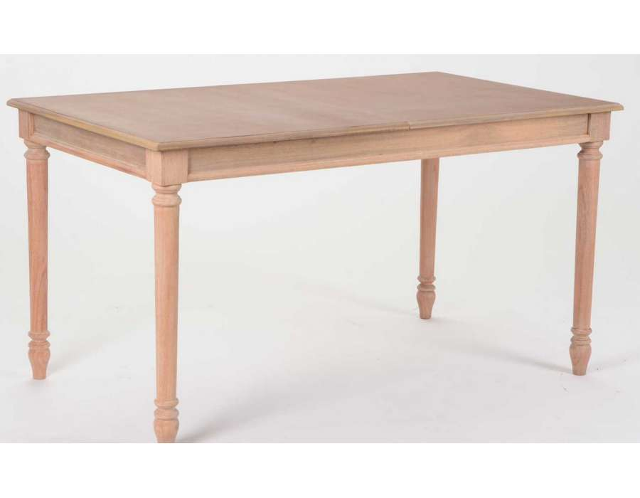 Table bois avec rallonge for Table bois brut