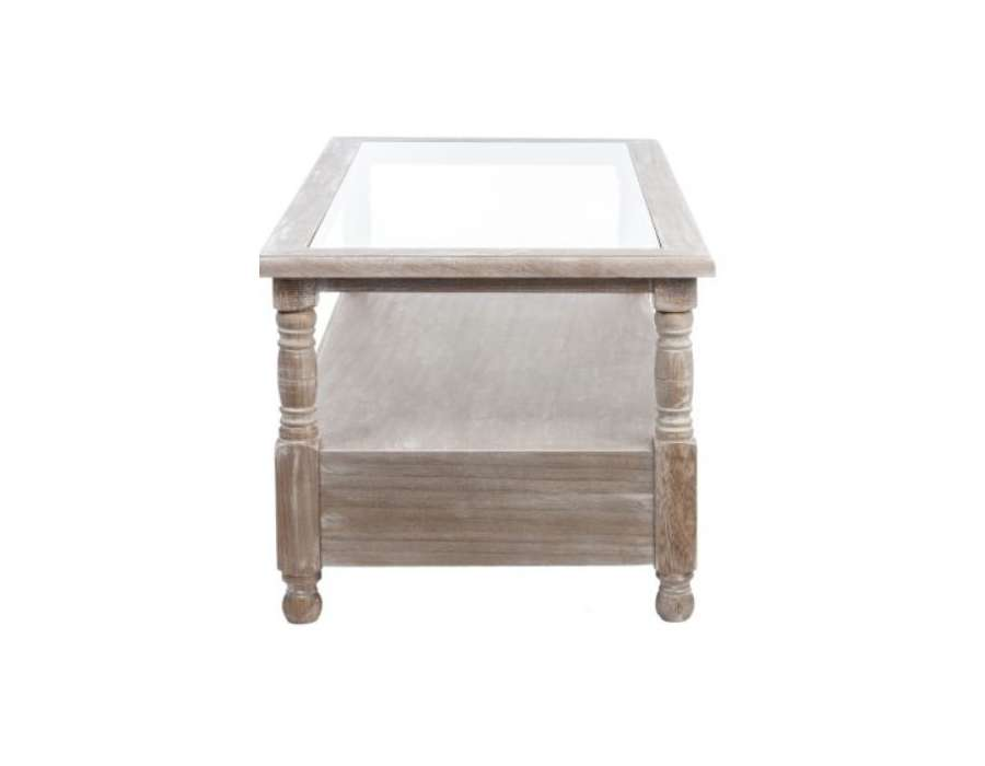 Table basse bois c rus rectangulaire 2 tiroris pas chere jolipa - Table basse industrielle pas chere ...