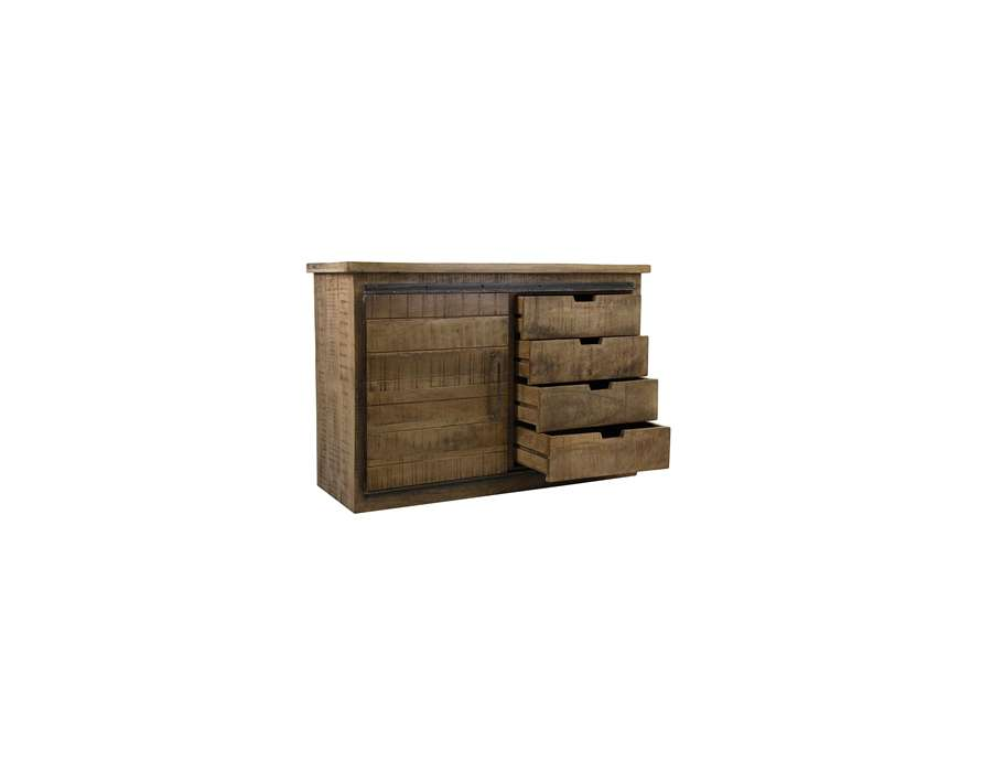 buffet en bois robuste et m tal industriel. Black Bedroom Furniture Sets. Home Design Ideas