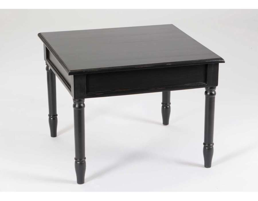 Table Basse Carree Noire