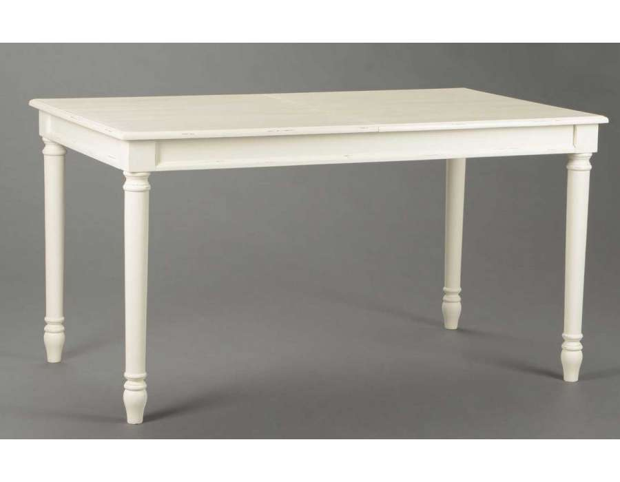 Table blanche rallonge maison design for Table ronde blanche rallonge
