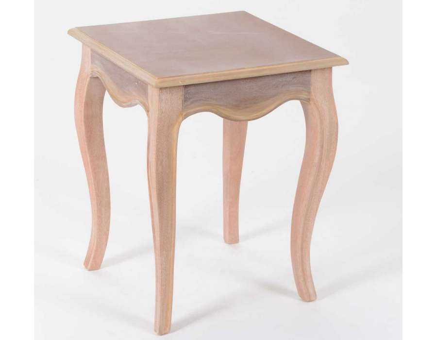 Table basse en bois brut a peindre - Bout de canape bois brut ...