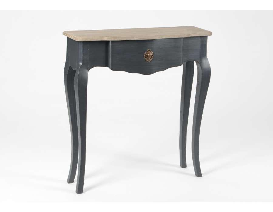 console baroque grise l gante 75 cm pas chere. Black Bedroom Furniture Sets. Home Design Ideas