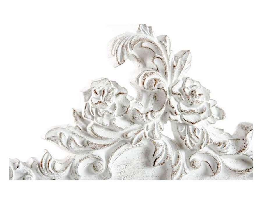 Miroir baroque blanc pas cher maison design for Grand miroir baroque blanc