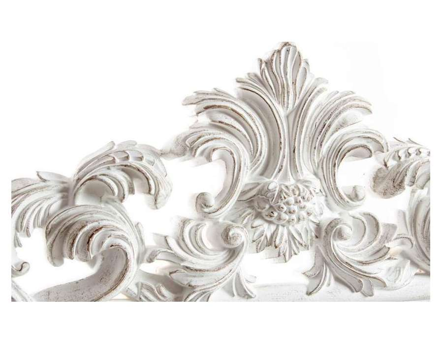 Miroir capitonn top t te de lit en ch ne avec garniture for Grand miroir blanc baroque