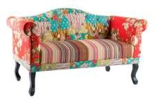 Canapé baroque coloré tapisserie