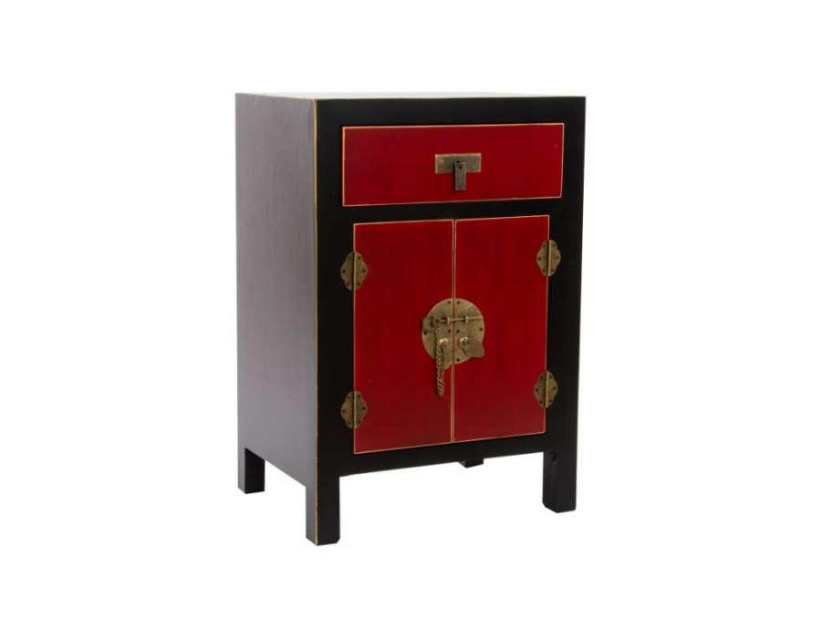 Meuble chinois noir et rouge id e for Petit meuble chambre bebe