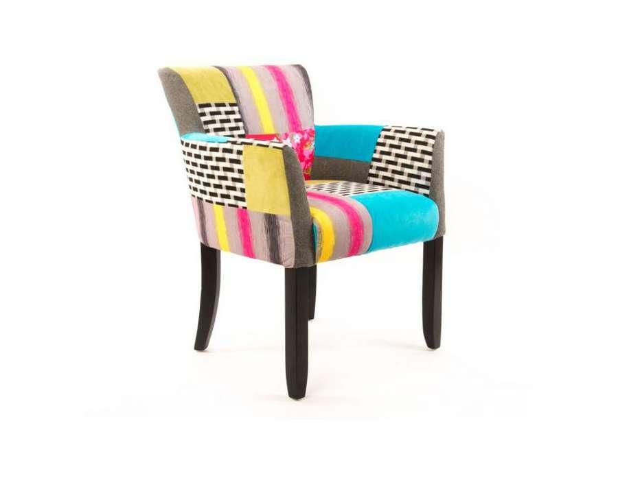 fauteuil crapaud tapisse colore - Fauteuil Colore
