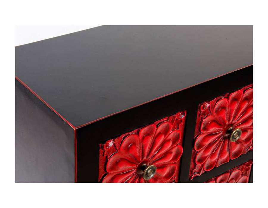 meuble chinois noir et rouge id e. Black Bedroom Furniture Sets. Home Design Ideas