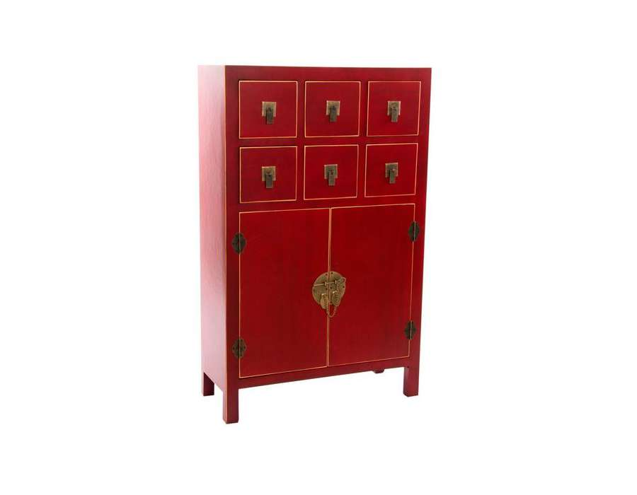 Meuble chinois noir et rouge id e for Meuble chinois rouge