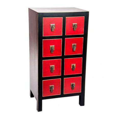 Chiffonnier japonais meuble chinois noir et rouge cher for Meubles japonais achat