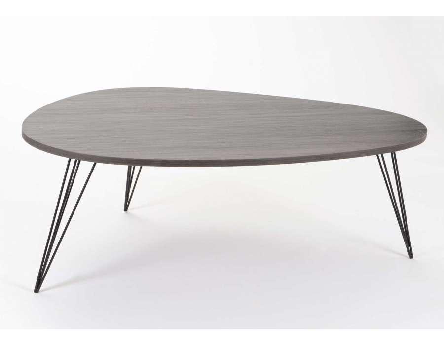 Salon wenge et gris - Table salon pas chere ...