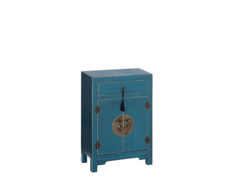 Petit meuble de rangement chinois bleu meuble chinois pas for Meuble bas chinois