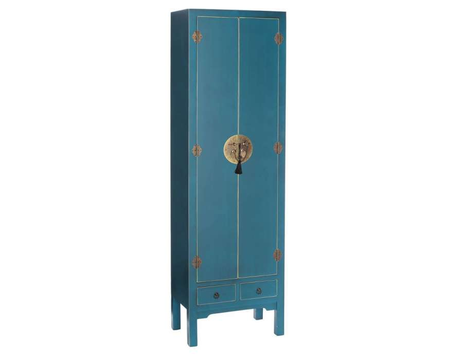 armoire chinoise bleue meuble de rangement chinois. Black Bedroom Furniture Sets. Home Design Ideas