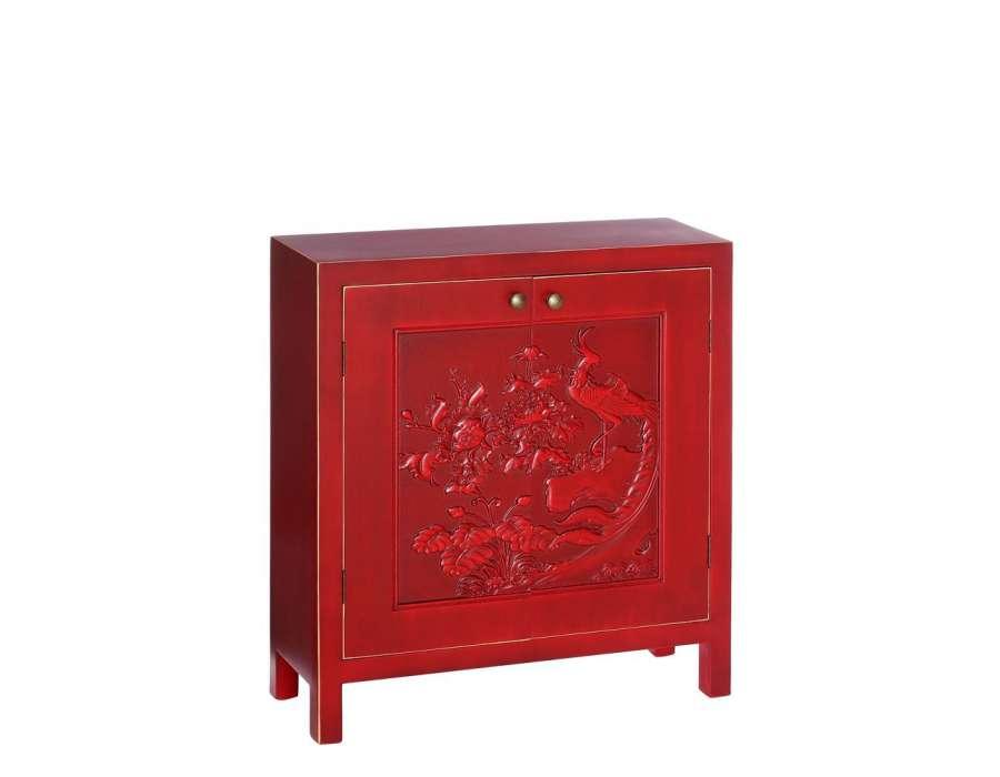 Largeur guide d 39 achat - Meuble asiatique rouge ...