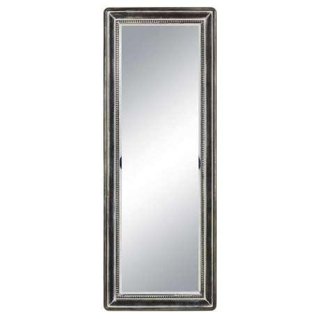 Grand miroir m tal noir 110 cm pas cher - Miroir rectangulaire noir ...