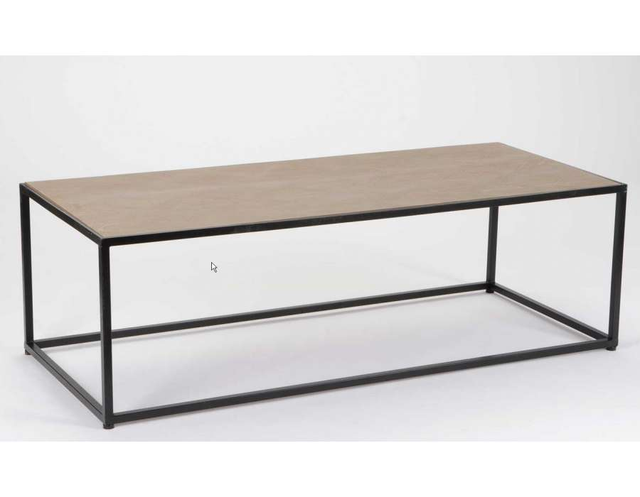 Table salon bois metal - Table de salon pas chere ...
