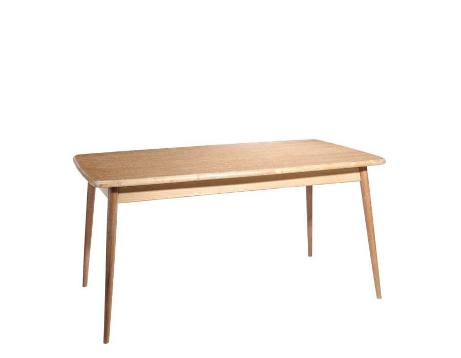 Table salle manger 160 cm bois naturel evas for Table de salle a manger 160 cm