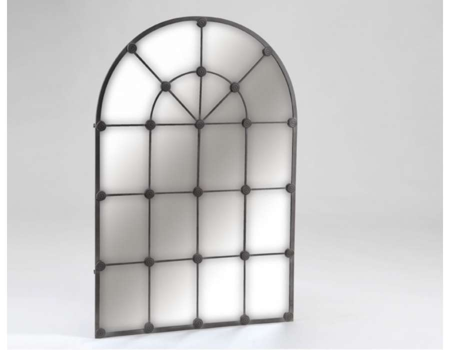 Miroir orangerie noir for Miroir quadrille kine