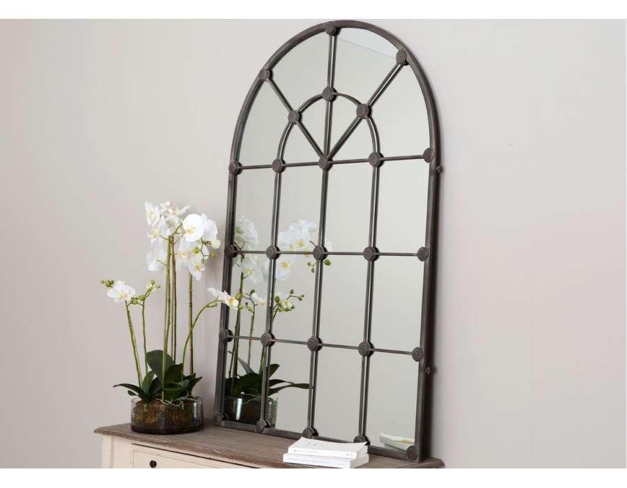 Miroir orangerie for Miroir mural metal