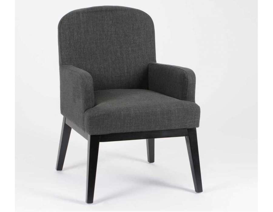 fauteuil de salon gris contemporain
