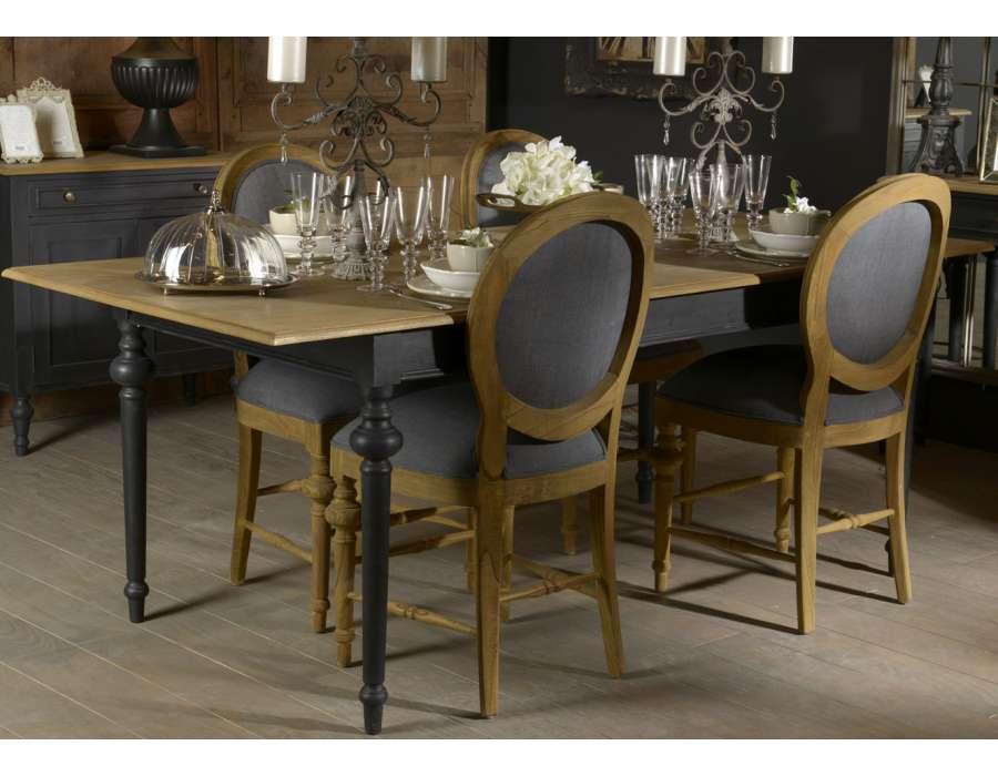 Table bois ceruse for Table sejour bois