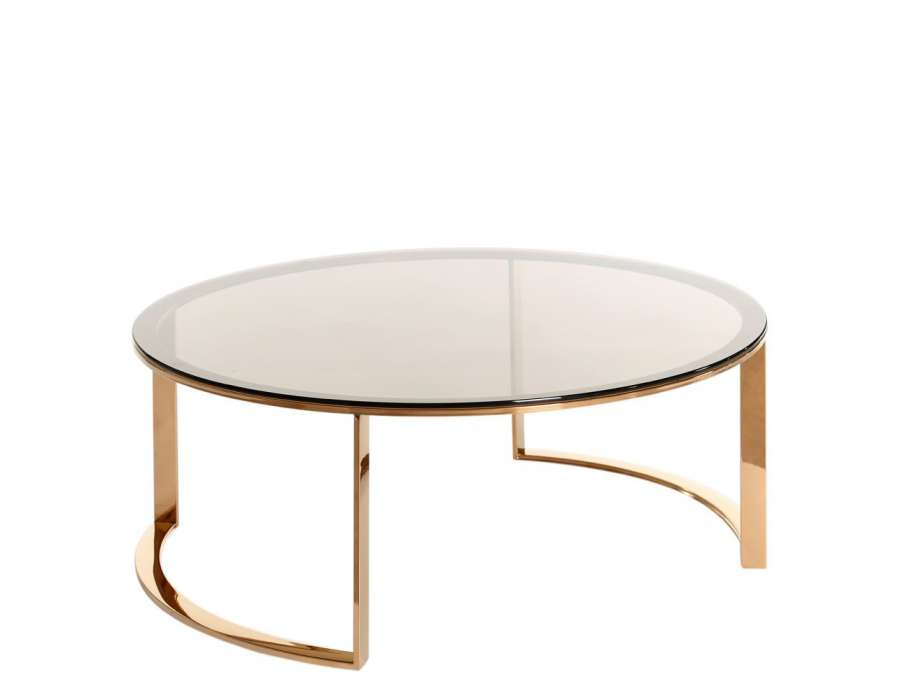 Table basse ronde salon but for Verre pour table basse