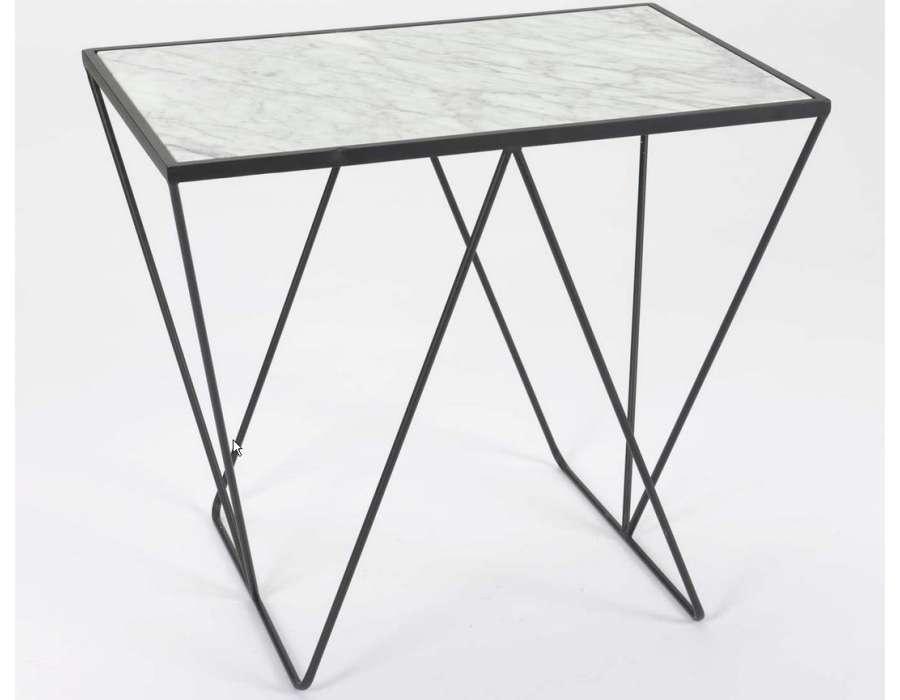 bout de canap plateau marbre design. Black Bedroom Furniture Sets. Home Design Ideas