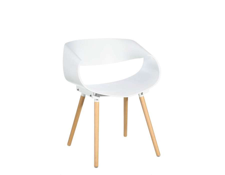 Chaise blanche design maison design for Chaise blanche design pas cher