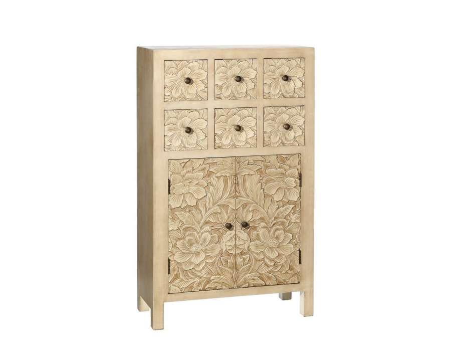 meuble de rangement beige oriental