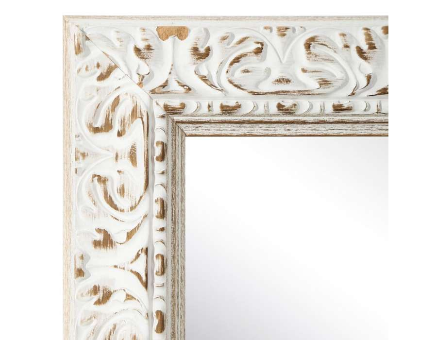 Grand miroir en bois for Miroirs rectangulaires
