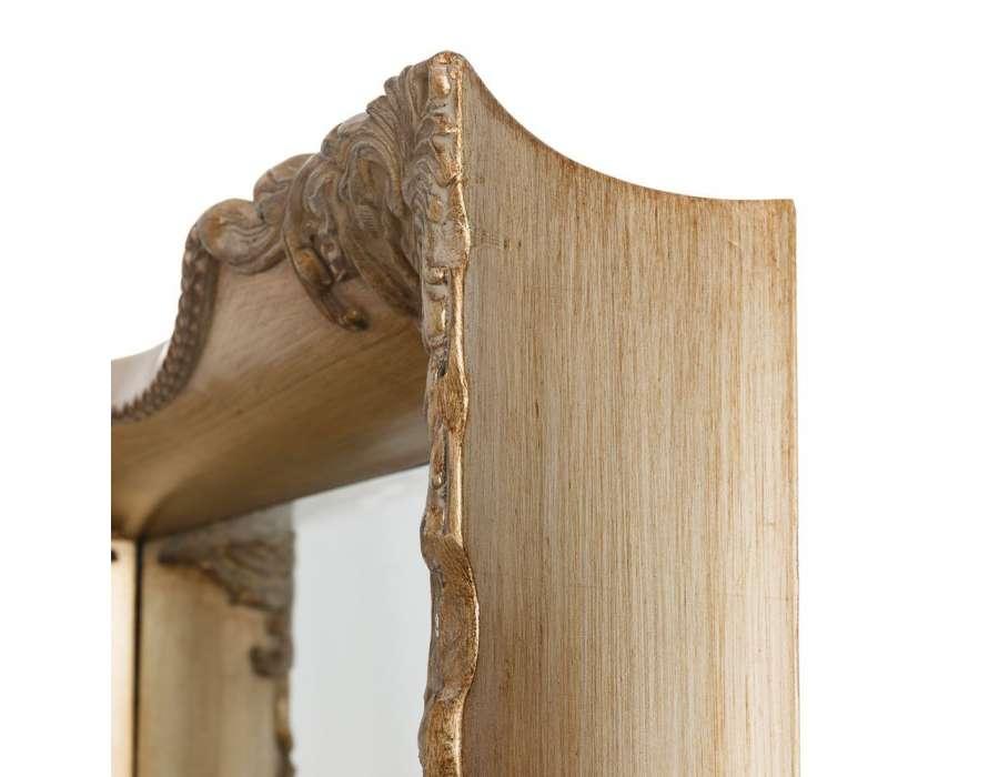 Miroir baroque noir pas cher maison design for Miroir bois pas cher