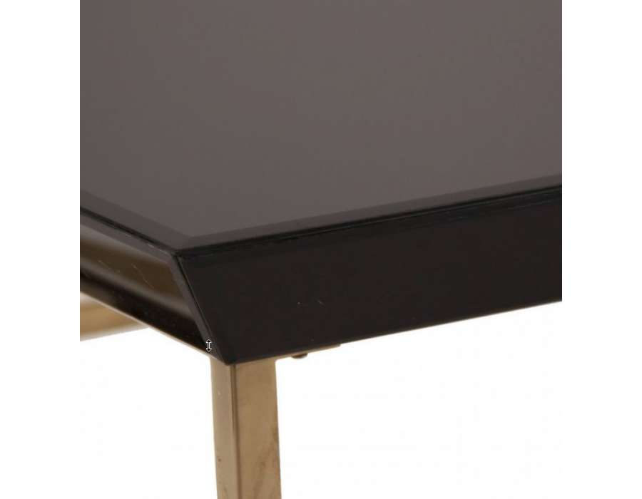 Table basse de salon en verre noir - Table basse noir verre ...