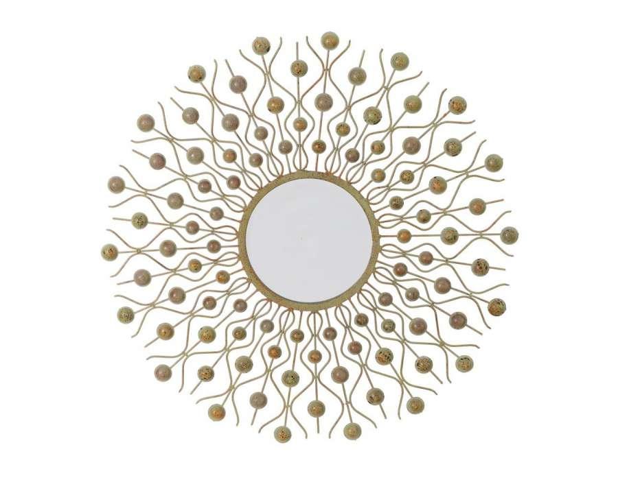 Prix des miroir 5 for Miroir rond dore