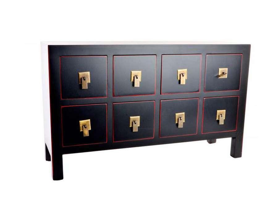Prix des meuble tv rouge 4 for Meuble bas chinois