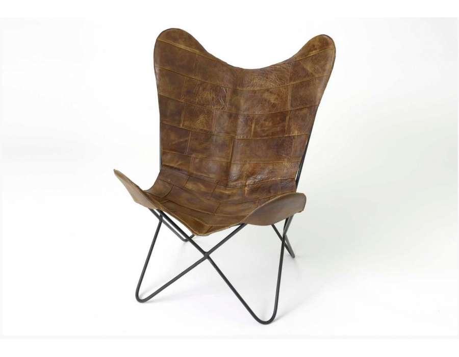 40 inspirant fauteuil cuir et fer hjr2 fauteuil de salon. Black Bedroom Furniture Sets. Home Design Ideas