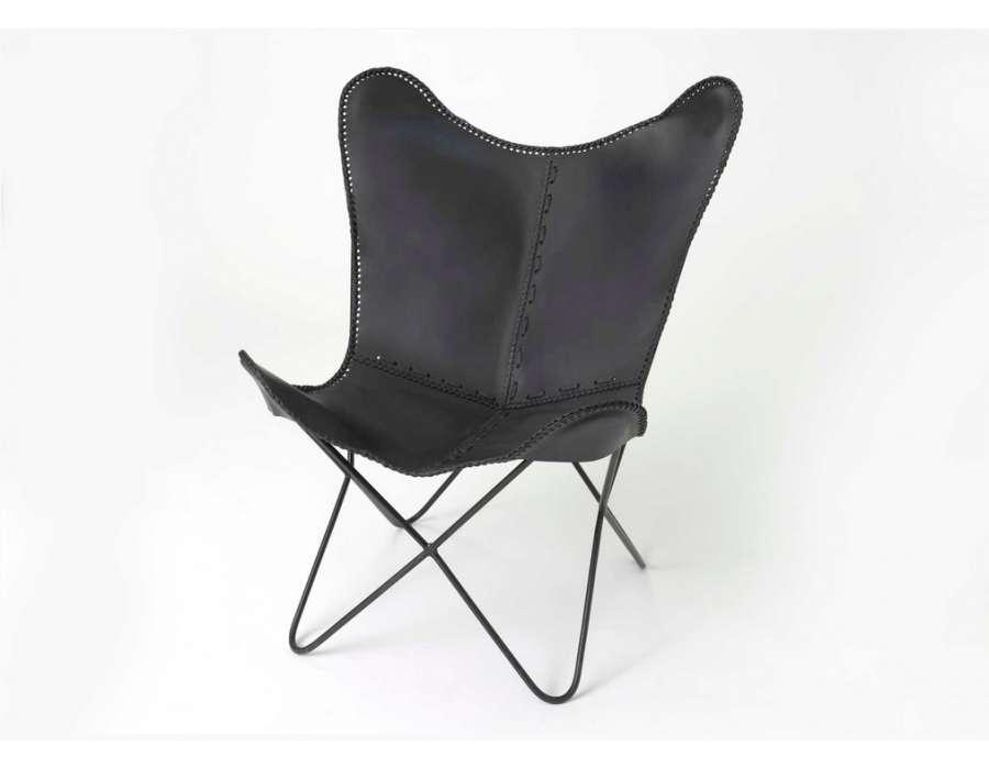 Fauteuil En Cuir Noir fauteuil capitonn chesterfield en cuir noir