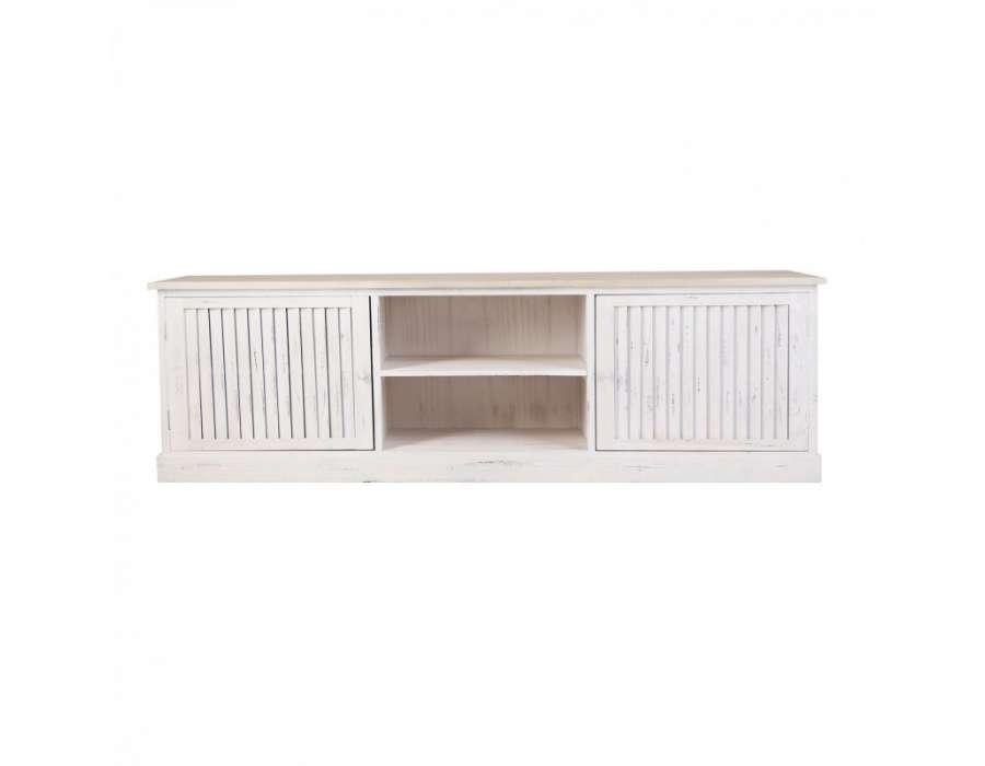 meuble tv blanc patine solutions pour la d coration. Black Bedroom Furniture Sets. Home Design Ideas