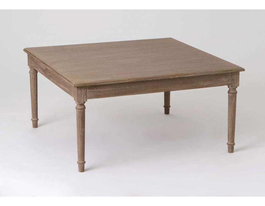 Table basse de salon carree bois for Table bois salon