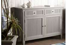 Grand buffet 120 cm bois gris patiné