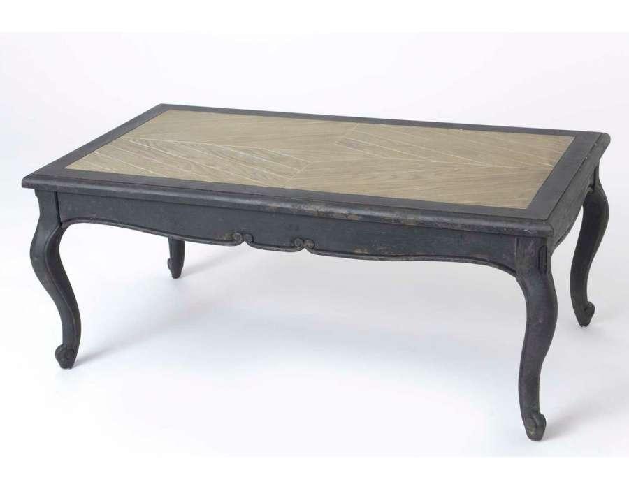 Table basse noire baroque galb e amadeus - Table basse bois vieilli ...