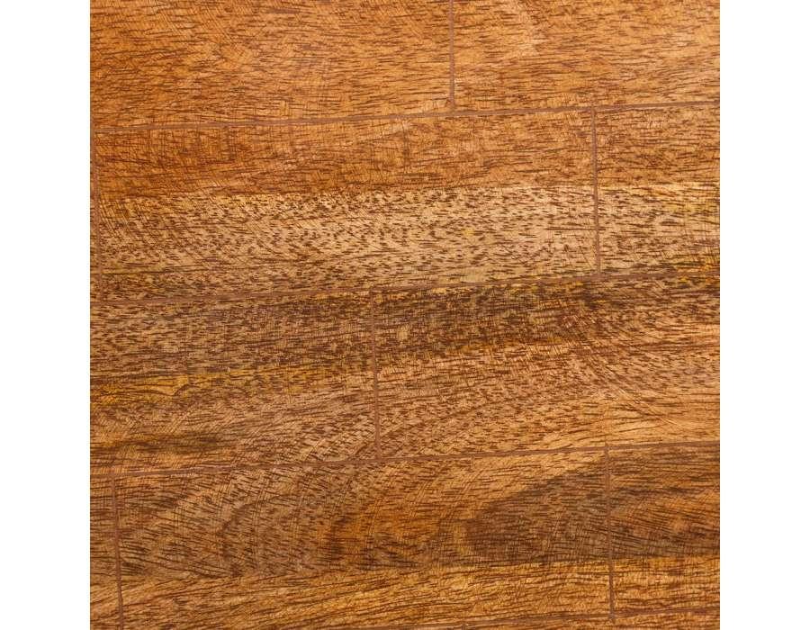Tables gigognes chrom e et plateau manguier for Bois de manguier meuble