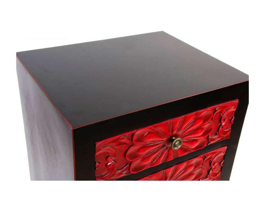 Meuble chinois noir et rouge id e for Meuble style japonais paris