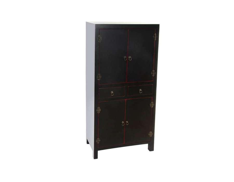 Armoire noire japonaise pour une chambre - Armoire chinoise noire ...