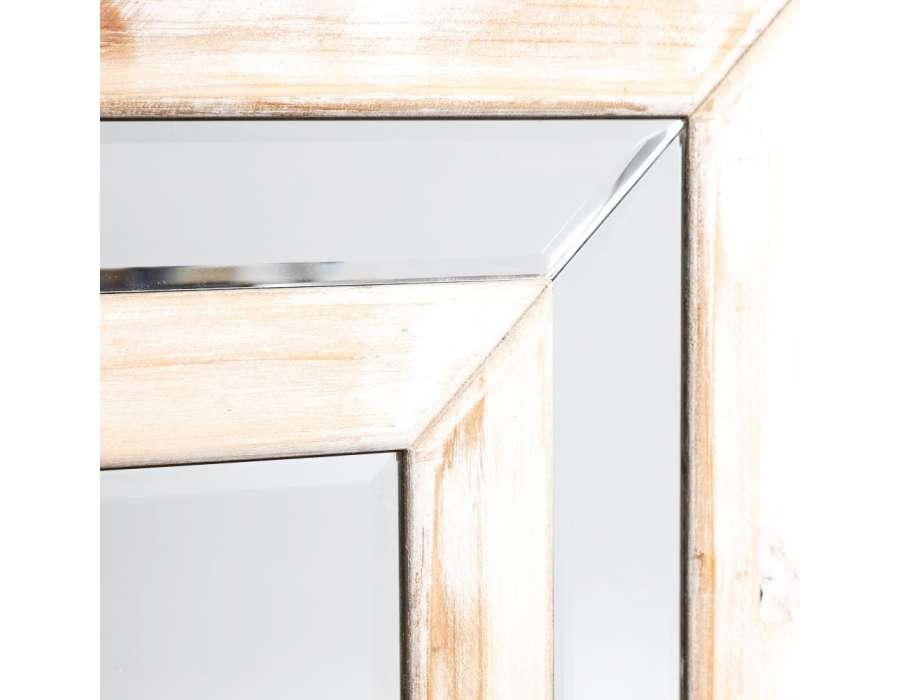 meuble de rangement miroir en pin clair. Black Bedroom Furniture Sets. Home Design Ideas