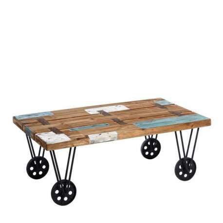 table basse industrielle color e pas chere. Black Bedroom Furniture Sets. Home Design Ideas