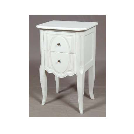 table de chevet en bois de couleur blanc de la gamme baptiste. Black Bedroom Furniture Sets. Home Design Ideas