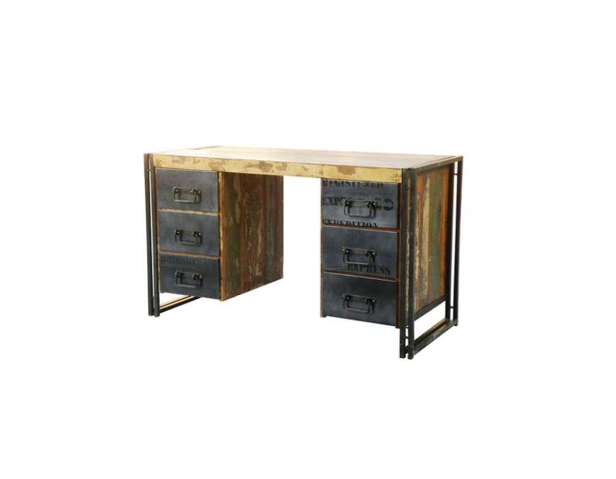 Le grenier de juliette amadeus meubles et d coration - Bureau industriel metal et bois ...